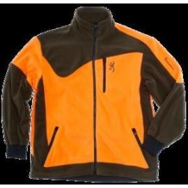 Jacket powerfleece one zippin, green orange 3xl